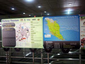 マレー鉄道の地図