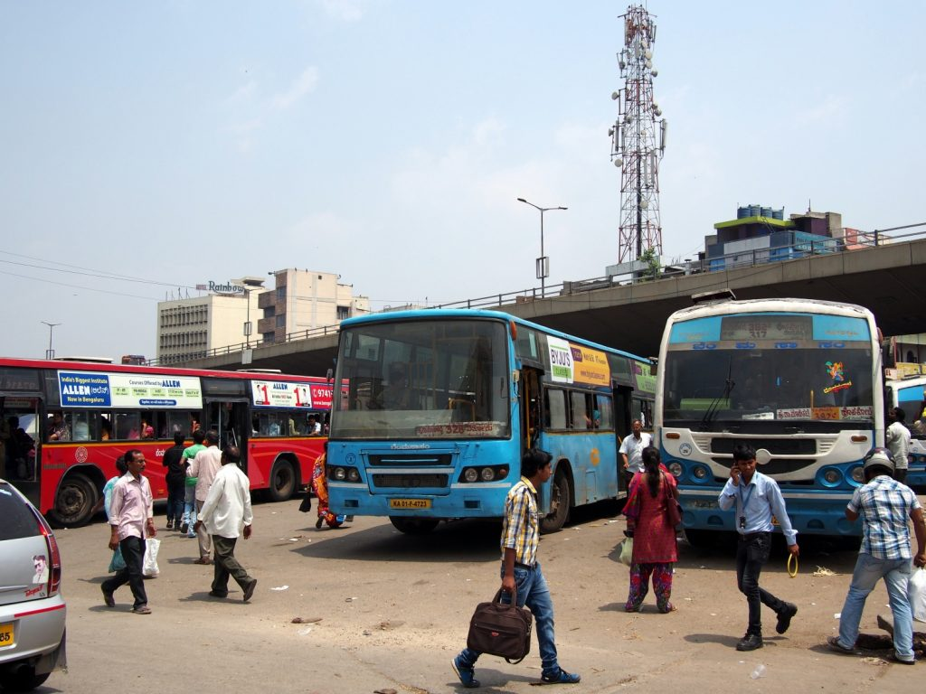 バンガロールのバスターミナル