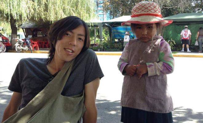 ボリビア人の少女と赤井さん