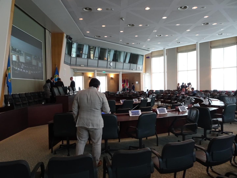 OPCWの会議室