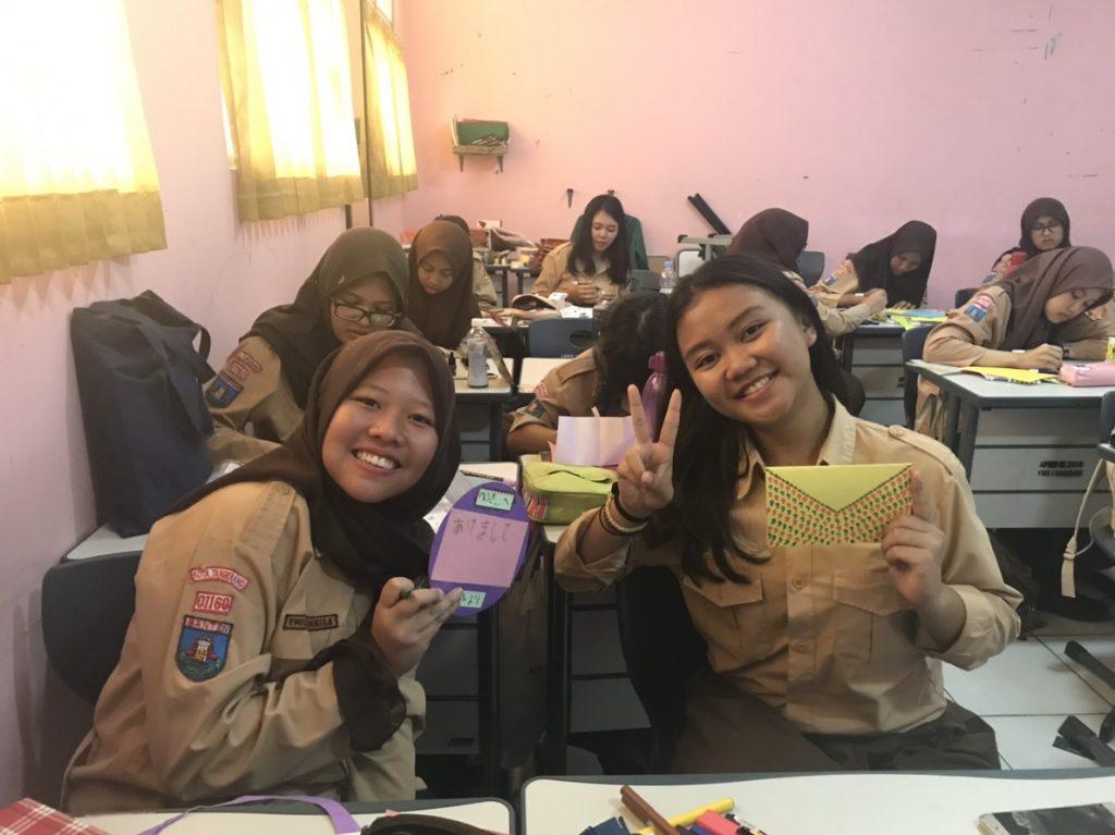 インドネシアの学校の生徒の様子